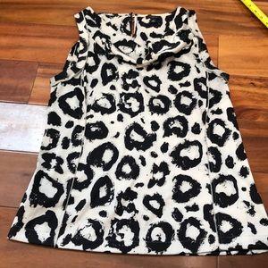 Ann Taylor Printed Sleeveless Blouse